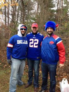 Jon, Dave, and Mike ready for some football!