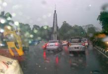 Jalanan Kota Bogor saat diguyur hujan.