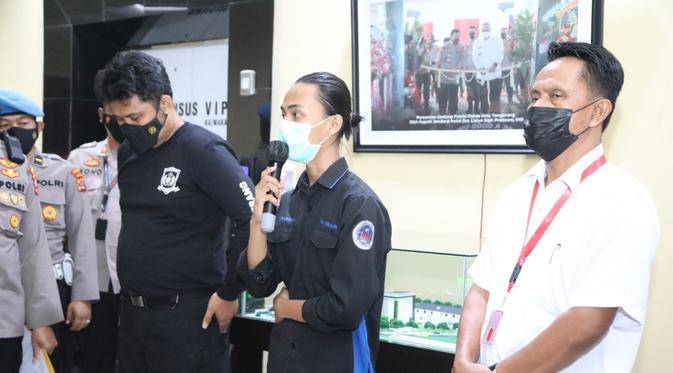 'Smack Down' Mahasiswa Saat Unjuk Rasa di Tangerang Berujung Damai