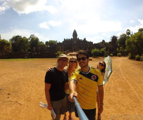 Colombians in Angkor wat