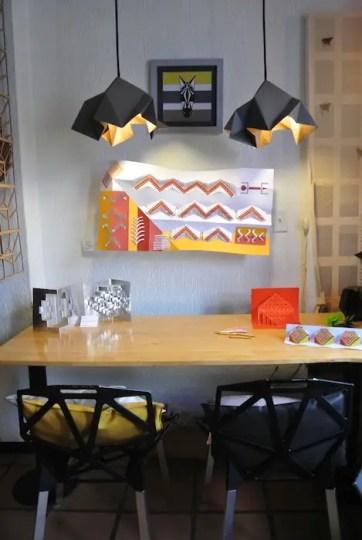 Cafe Origami Desk