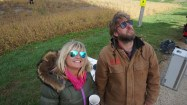 Production Designer Michelle Gilstead and Chris Thickins look up