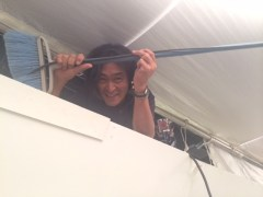 Camera intern Nobuyoshi Sakurai shows us how to cable wrangle.