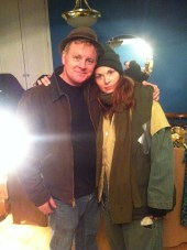 Patrick Coyle with Sarah Jean Shervin, our wardrobe designer (she's actually wearing a costume…)