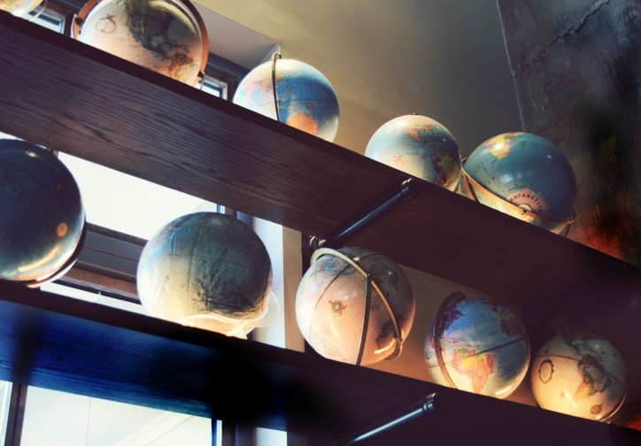 globe decor at public school 214