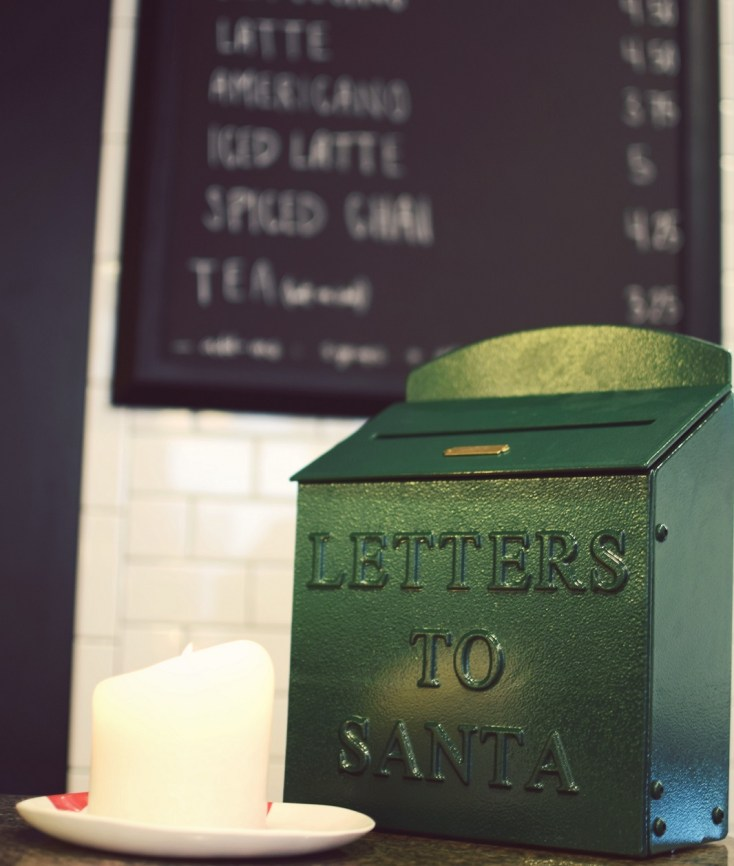 letters to santa at deck the hall coffee shop dallas texas