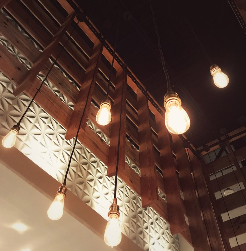 mood lighting and atmosphere in modern market restaurants