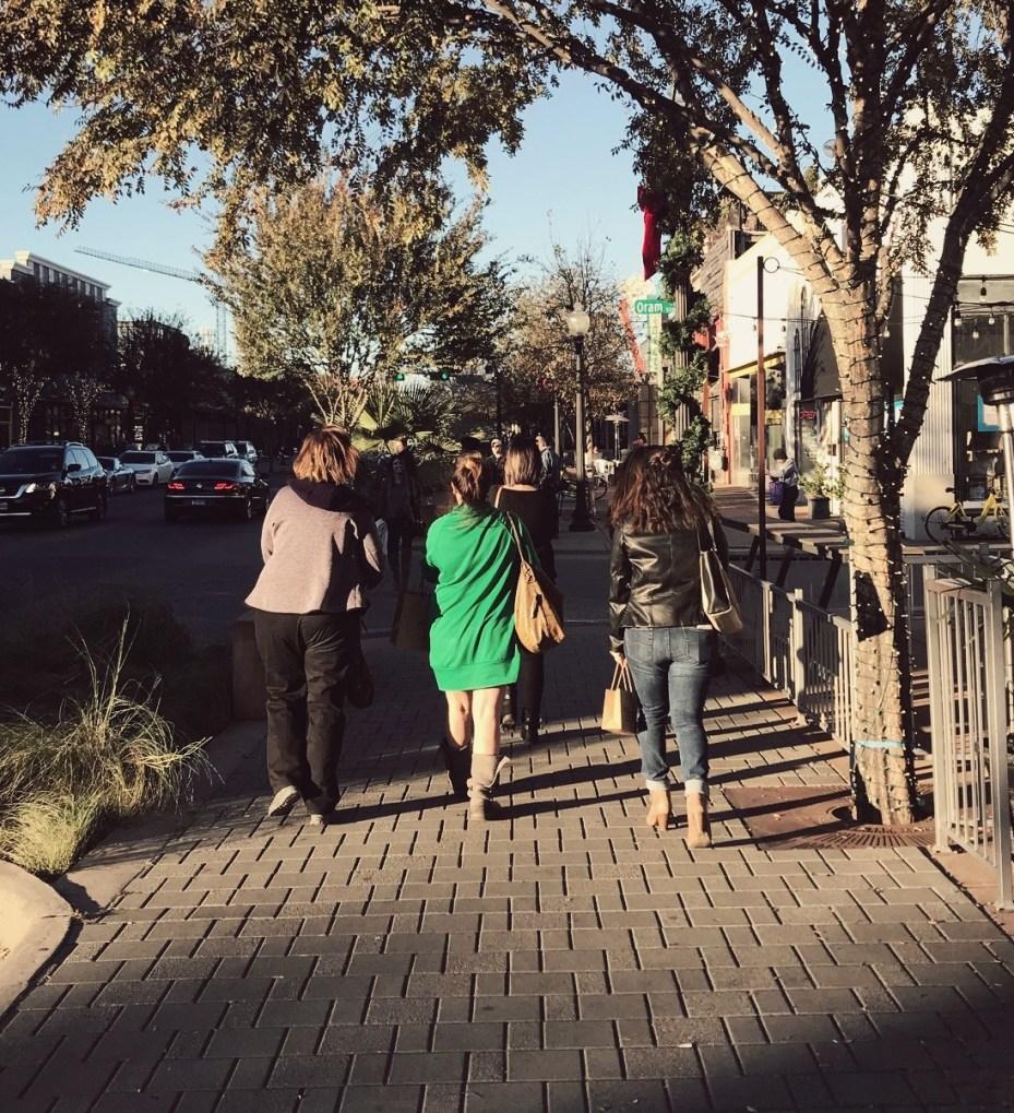 walking down greenville avenue
