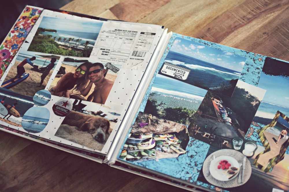bali two week vacation scrapbook memories