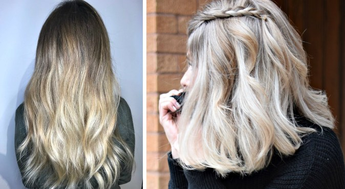 blonde hair before and after haircut