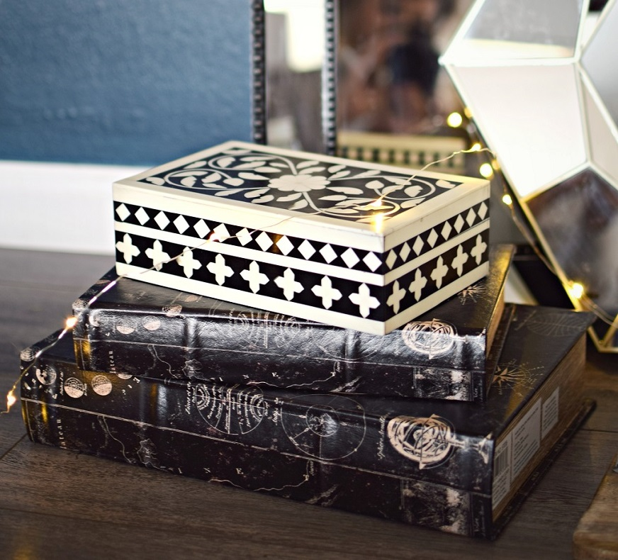 decorative book boxes home decor at home stores