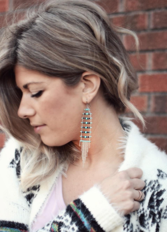 tribal bohemian earrings