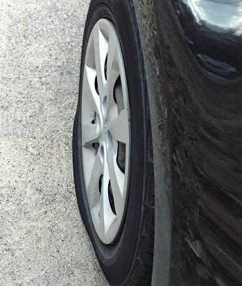 flat tire kia rio