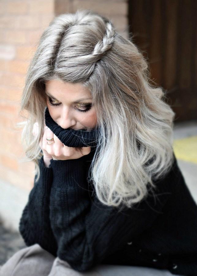 braid in blonde hair