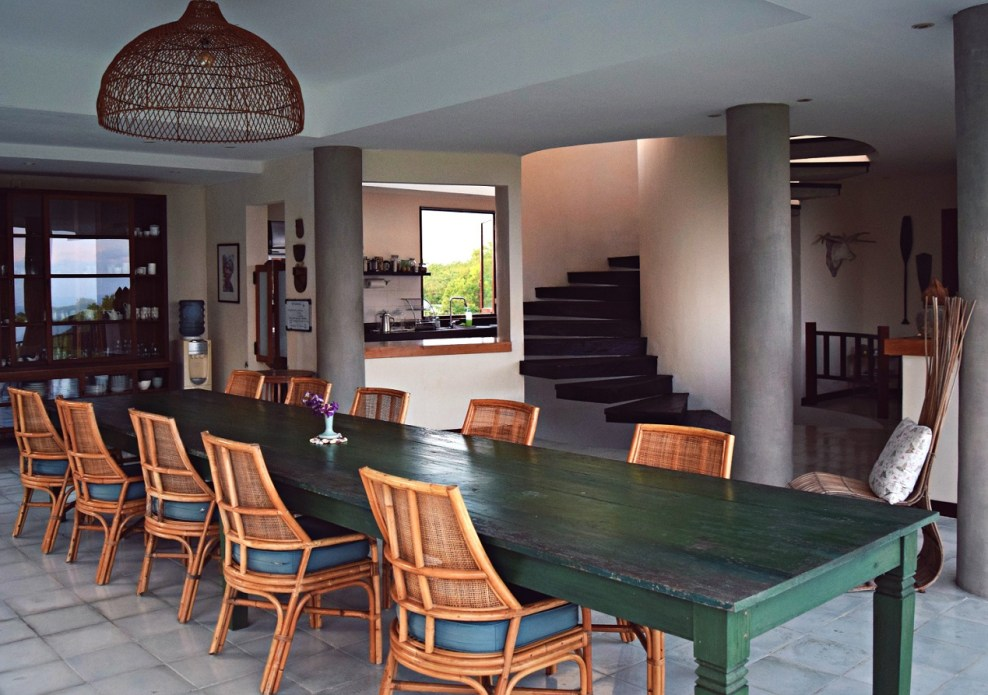 villa adila communal breakfast table south kuta bali indonesia