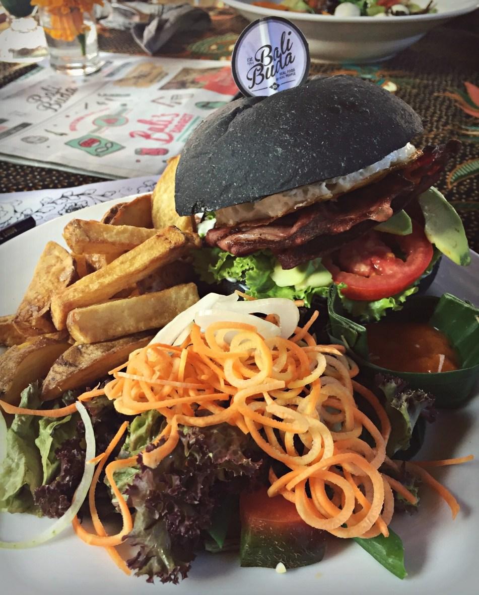 buda bali burger lunch ubud bali