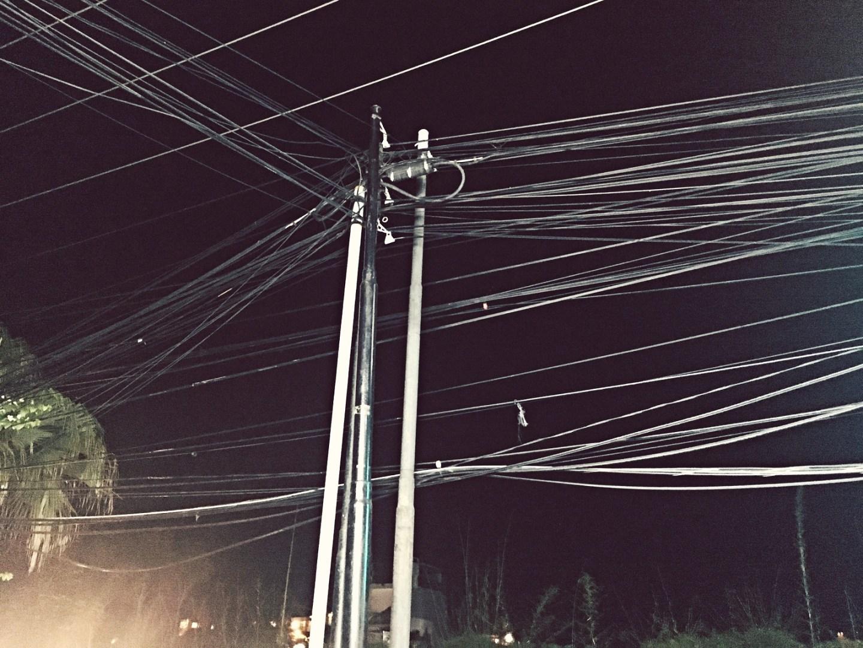 tangled electrical wires seminyak bali