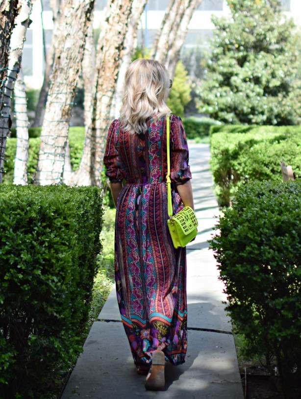 vintage boho colorful dress