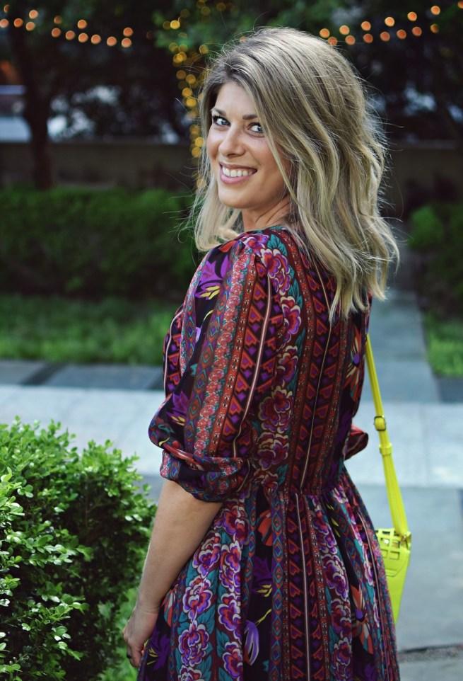 vintage colorful boho dress
