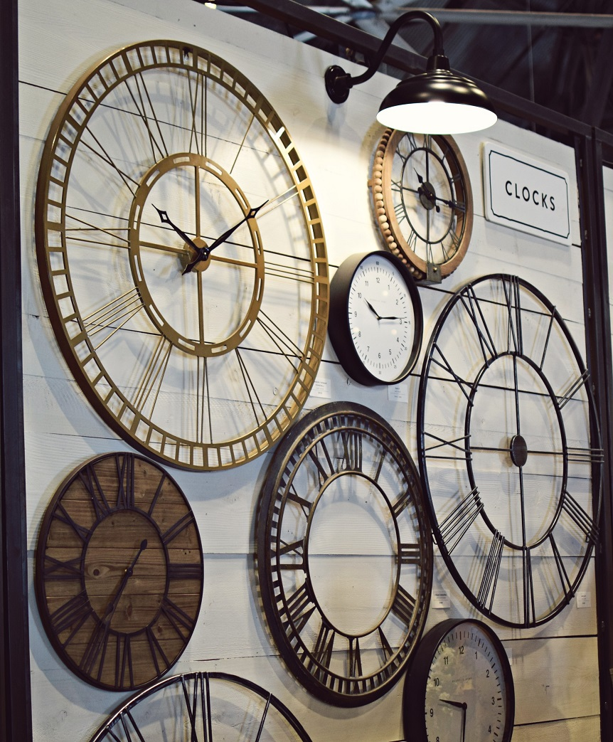 clock display at magnolia silos in waco texas
