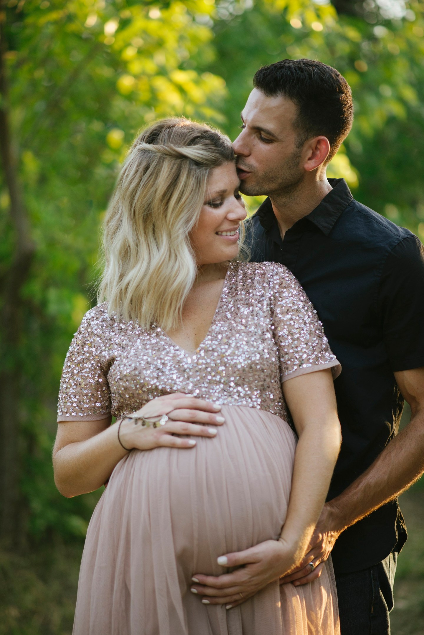 bohemian ethereal maternity photoshoot