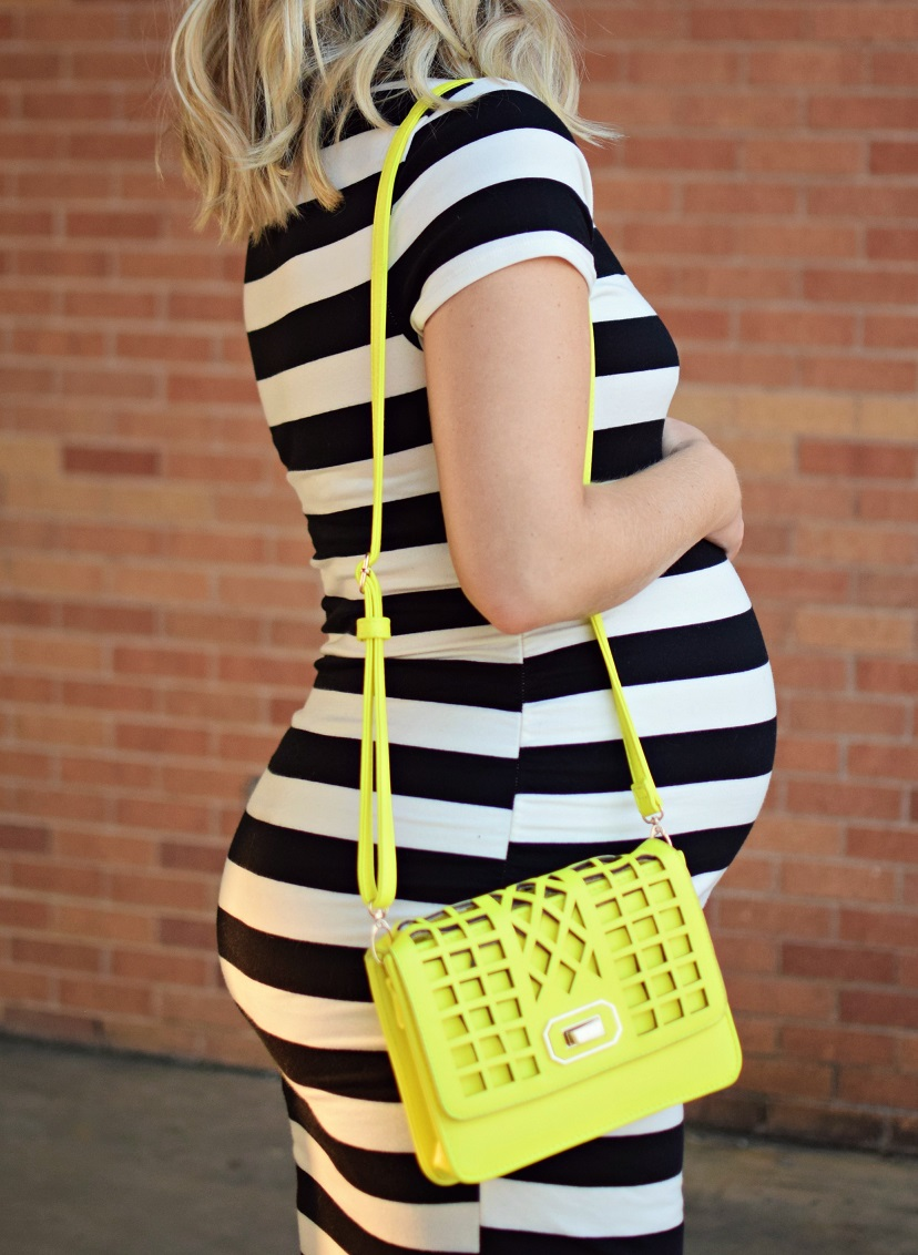 target maternity dress black and white stripe
