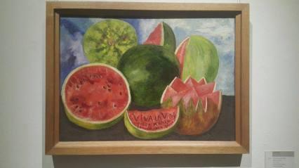 Frida's famous painting - Viva La Vida