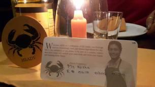 Personalised greetings from Sangakkara @ Ministry of Crab