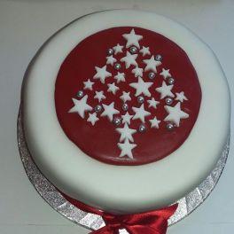 Fondant Star Tree Cake