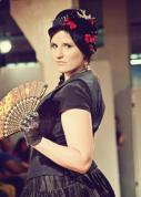 Runway Show at Indie Emporium. Jewelry & accessories by me. Hats by my mom, The Salvage Seamstress. Model: Renee Nordholm.