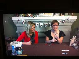 My first TV DIY (with KTUL 8)! I taught news anchor, Laura Neal, how to make washer earrings and how to age metals with potato chips!