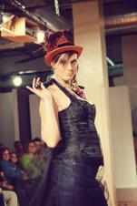 Runway Show at Indie Emporium. Jewelry & accessories by me. Hats by my mom, The Salvage Seamstress. Model: Melissa Antonucci.