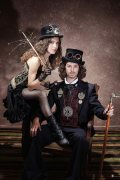 Steampunk Photo Shoot by Chuck Coleman. Jewelry & accessories by me.