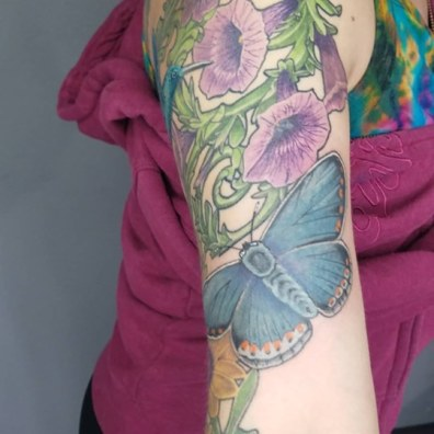 floral sleeve tattoo2