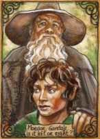 Frodo and Gandalf, by Soni Alcorn-Hender