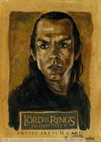 'The Ring should have been destroyed that day.' Topps Lord of the Rings LotR Masterpieces 2 sketch card by Soni Alcorn-Hender