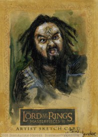 (Pete the Pirate) Topps Lord of the Rings LotR Masterpieces 2 sketch card by Soni Alcorn-Hender