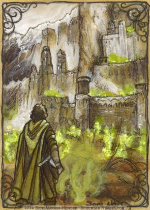 Aragorn leads the Dead Army to Minas Tirith, by Soni Alcorn-Hender