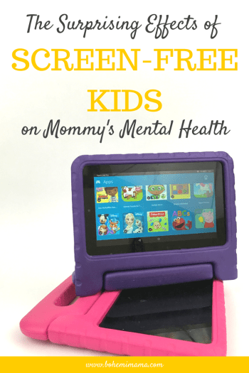 The Surprising Effects of Screen-Free Kids on Mommy's Mental Health | Learn how taking away their tablets and shows helped me be a happier, more fulfilled Mama.