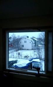 Första snön var snabbt på plats i år!