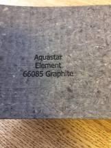 Mattprov (baksida) Aquastar Element Graphite