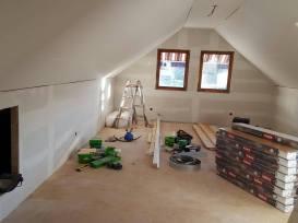 Allrummet under uppbyggnad