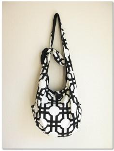 Black and White Messenger Bag