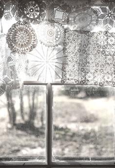 sheer dollie curtain