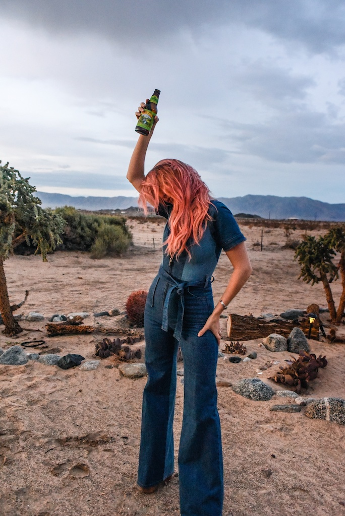 stoned-immaculate-denim-jumpsuit-vintage-70s-fashion-blogger-joshua-tree-overtone-color-conditioner-rose-gold-ombre-hair-extensions-boho-bunnie 45