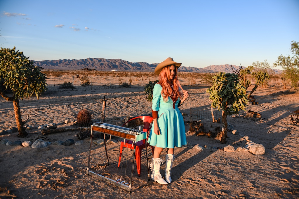 rockin-b-western-nudie-suit-dress-vintage-circle-skirt-fringe-boots-stetson-cowboy-hat-pedal-steel-guitar-female-player-boho-bunnie-joshua-tree-fashion-blogger-country-musician-andrea-whitt 1