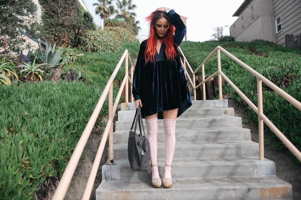 free-people-fpme-choose-me-velvet-mini-pointelle-thigh-high-socks-jeffrey-campbell-clogs-overtone-ettika-fashion-blogger-beach-california-27