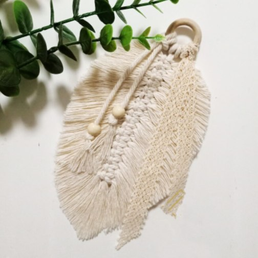 Macrame Wall Hanging Home Decoration Accessories Feathered Charm Car Wall Hanging Boho Decor Hand-woven Tapestry Wall Hanging