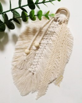 Boho Chic Macrame Wall Hanging Decoration Feathered Charm