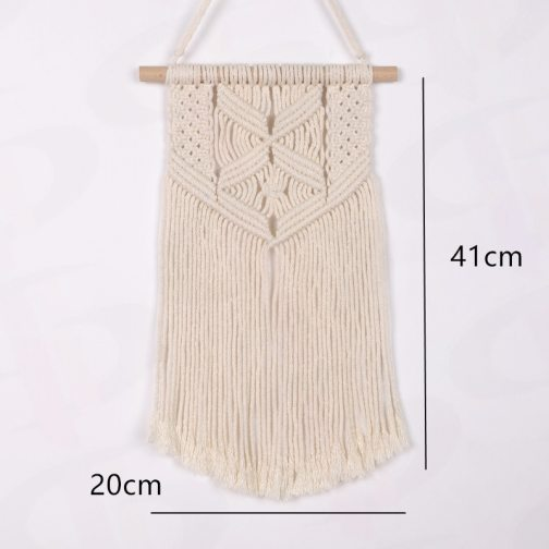 NEW Macrame Wall Hanging Tapestry Cotton Rope Tassel Hand Woven Bohemian Tapestry Geometric Art Beautiful Living Room Home Decor